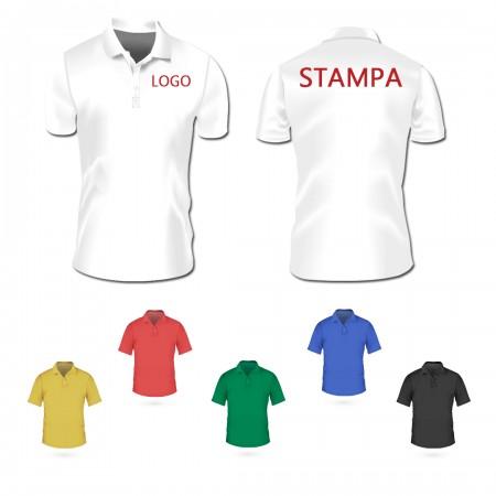 10 Polo MC Stampa F/R