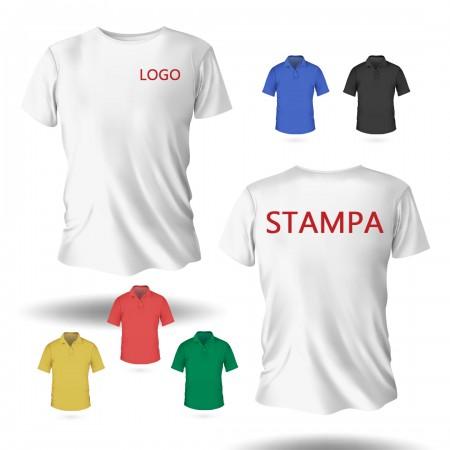 10 T-Shirt MC Stampa F/R