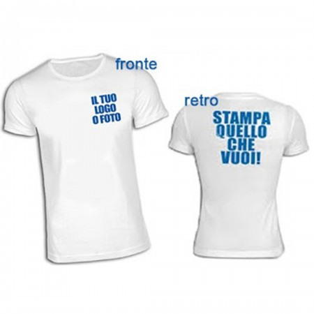 T-Shirt stampa Fronte/Retro